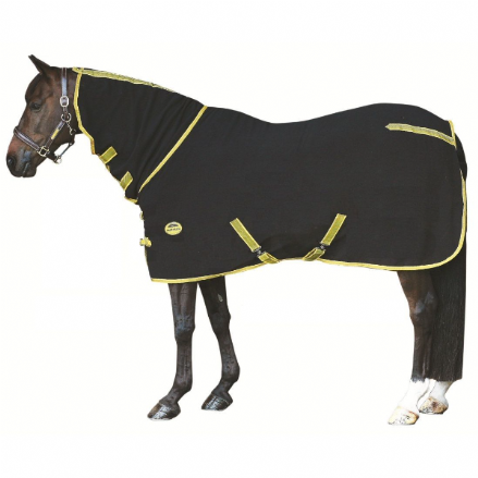 Weatherbeeta Polar Fleece Cooler Combo Black & Gold